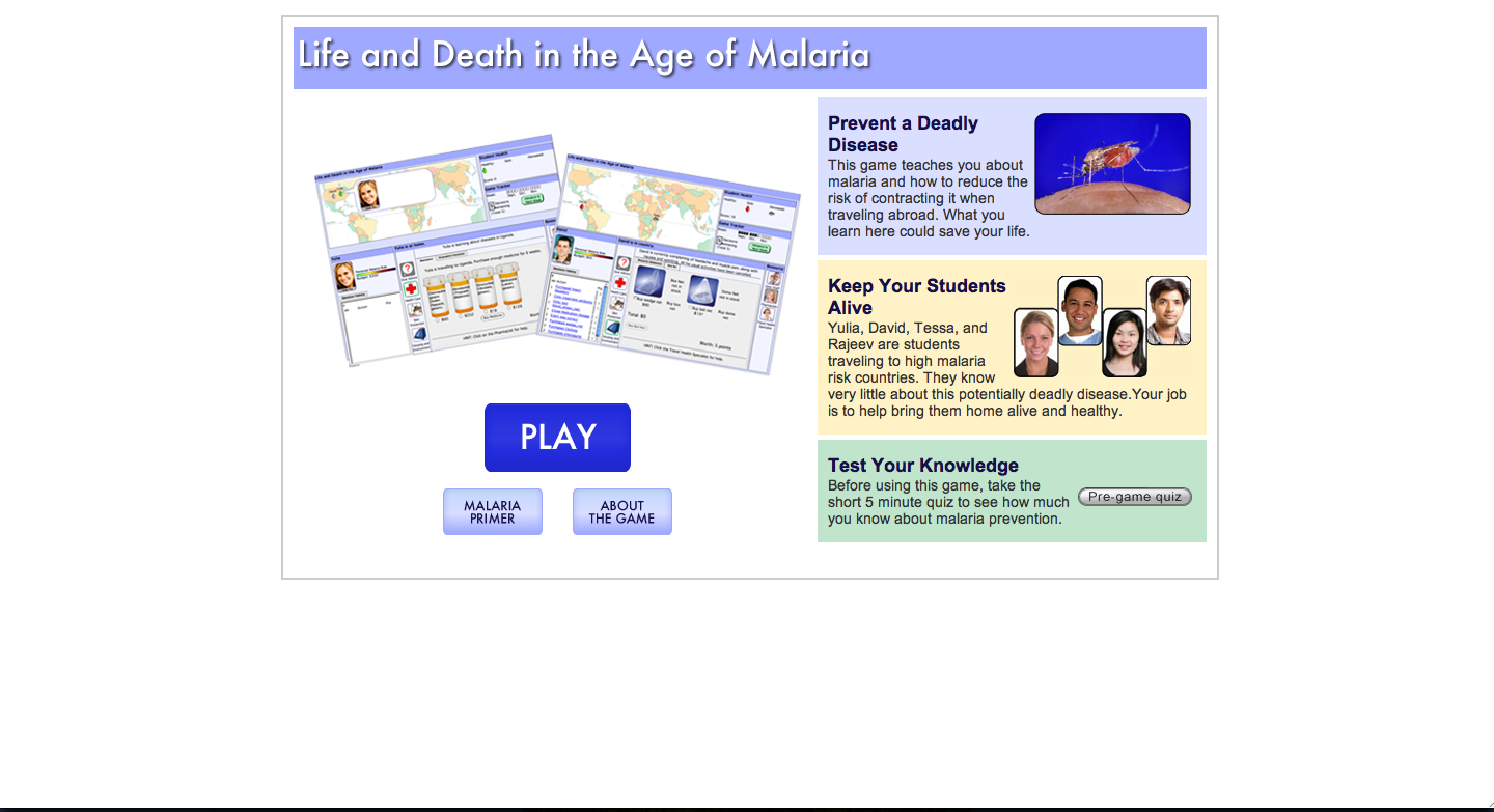 Malaria screenshot